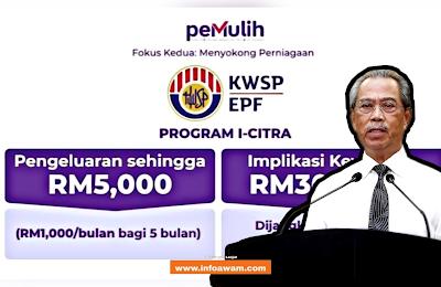 i-Citra KWSP : Pengeluaran Hingga RM5000 Mulai Ogos