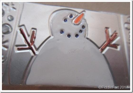 Ranger Enamel Accents Snowman Tag