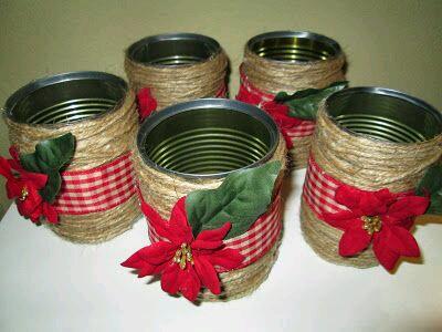M s y m s manualidades recicla latas para crear bellas - Como hacer decoraciones navidenas ...