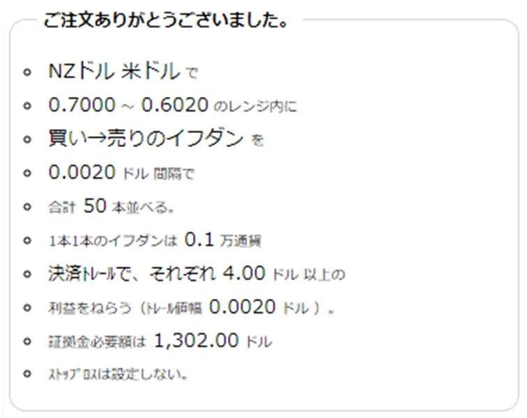 ココのトラリピNZD/USDの注文履歴買いから売り