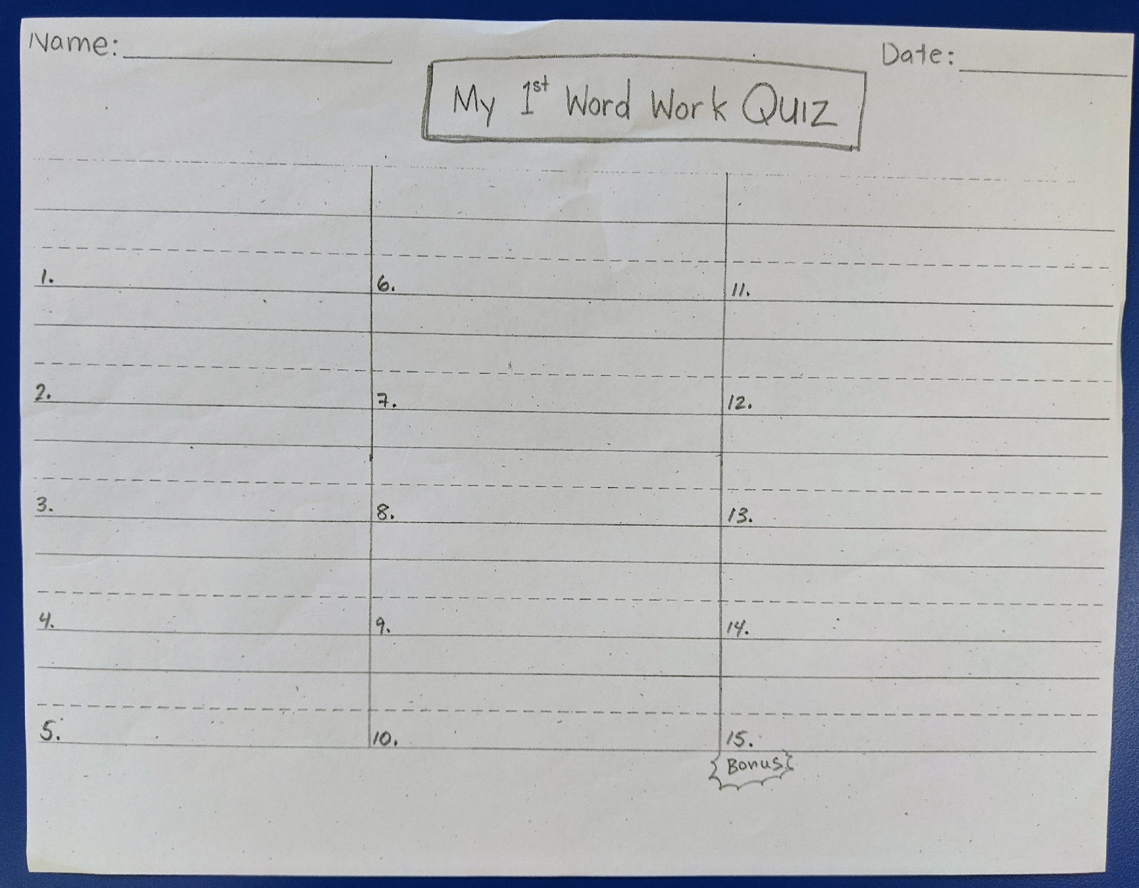 Mr Neufeld S K Classroom Day Plan For Tuesday June 15