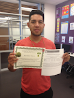 Saul Rafael APD Student earned his GED September 2013