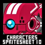 Mecha Character Spritesheet