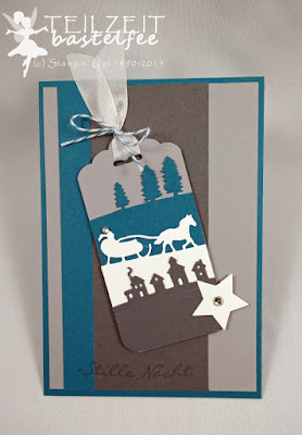 Stampin' Up! - Mojo Monday #420, Kling Glöckchen, Jingle all the Way, Sleighride, Schlittenfahrt, Stern, Star, Tag, Scallop Tag Punch, Stanze Anhänger Wellenrand, Weihnachten, Christmas