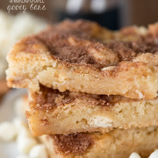 White Chocolate Snickerdoodle Gooey Bars