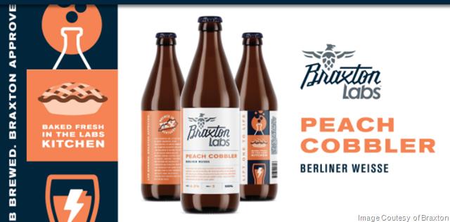 Braxton Labs Releasing Peach Cobbler Berliner Weisse Bottles 2/17