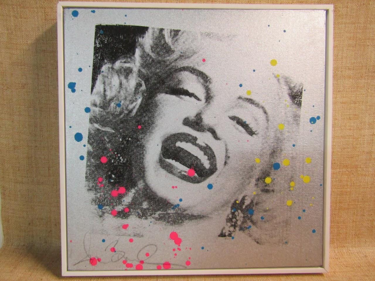 Signed Pop Art of Marilyn Monroe