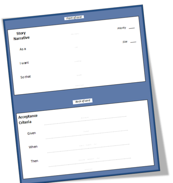 blank task card template - better projects user story template