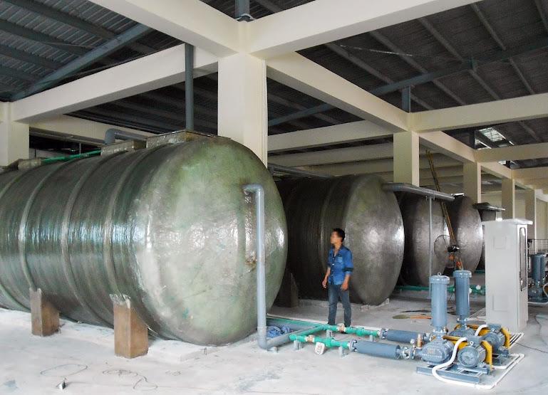 Giao hệ thống bồn composite xử lý nước thải 250m3/ ngày đêm