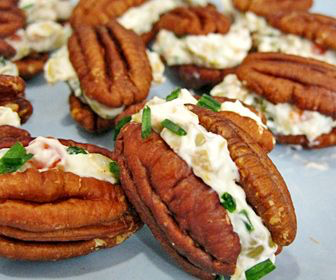 Jan can cook low carb creamy pecan mini sandwiches for Atkins quick cuisine bake mix