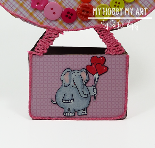 Sweet 'n Sassy Stamps, Valentine Elephant Digital Stamp , Latinas Arts and Crafts, Ruthie Lopez 2