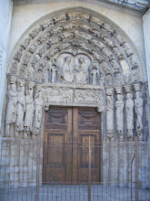 Photo: This doorway shows Mary's coronation after her Assumption into heaven.