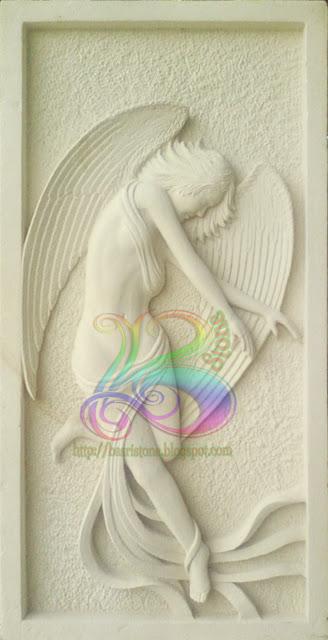 Relief angel  batu alam paras jogja