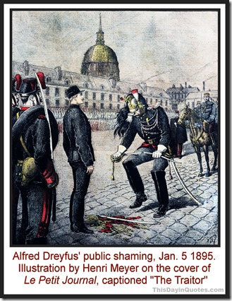 The shaming of Alfred Dreyfus TDIQ