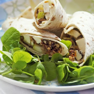 Pear, Hazelnut, Fig and Mozzarella Wraps