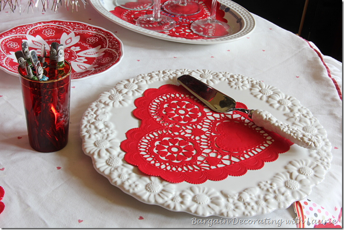 Cake Plate for Valentine Table