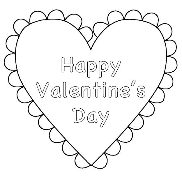 Valentine Printable Coloring Pages For Kids