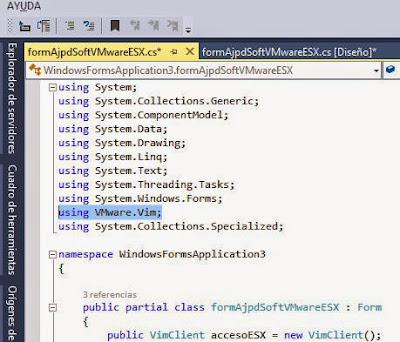 Cómo usar VMware VIX API para desarrollar aplicación Visual Studio .NET C# C Sharp para administrar ESXi y vCenter