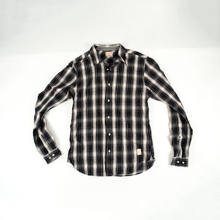 Scotch & Soda Black Plaid Button Up Flannel
