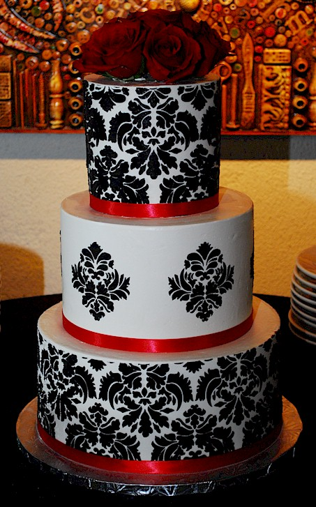 Cup A Dee Cakes Blog Damask Buttercream Wedding Cake