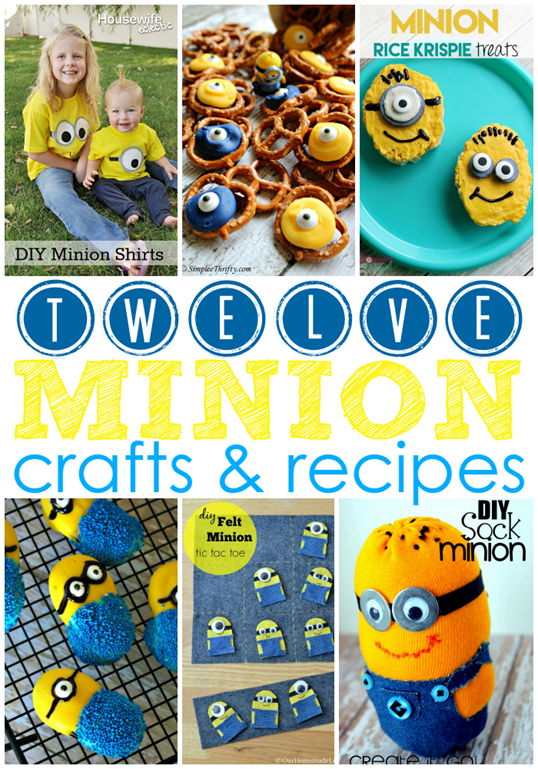 12 Minion Crafts & Recipes at GingerSnapCrafts.com #linkparty #features #minions