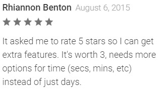 google play rating fake