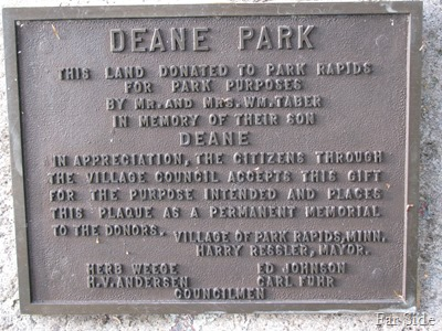 Deane Tabor placque