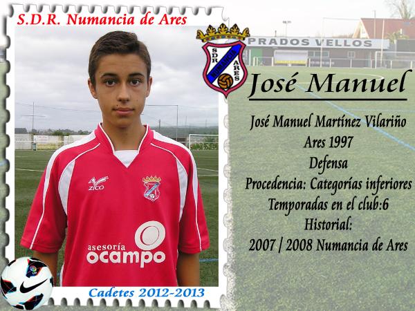 A.D.R. Numancia de Ares. José Manuel