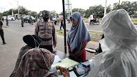 Operasi Yustisi, Brimob Razia Masker  bersama Tim Gabungan di Lhokseumawe