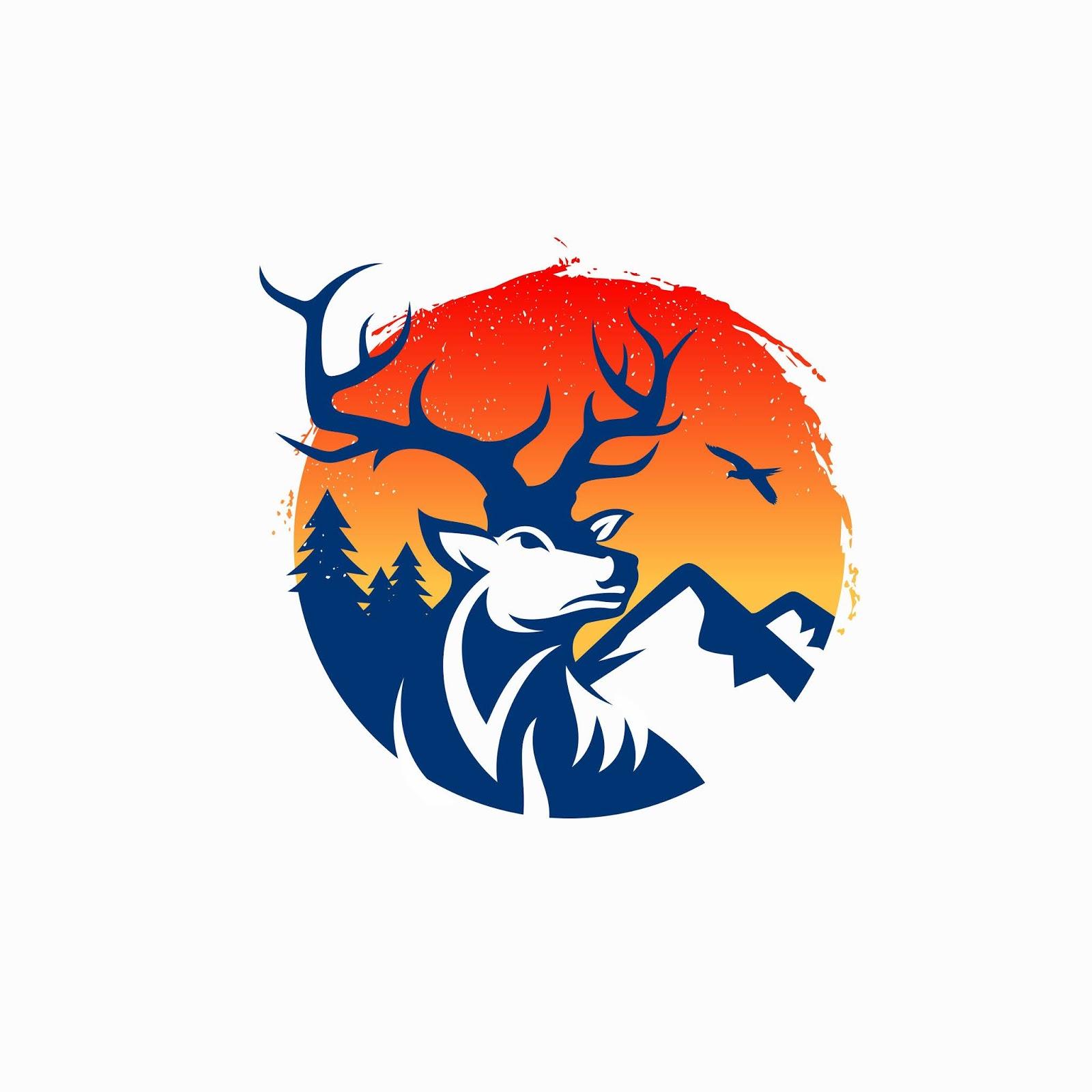 Vintage Deer Logo Free Download Vector CDR, AI, EPS and PNG Formats