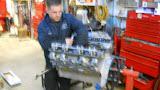 Matt hard at work adjusting valves.