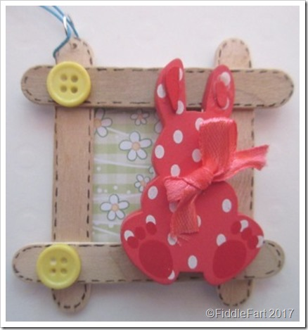 Easter Bunny New Baby Craft Stick Tag..