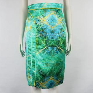 Chritian Cota Hammered Silk Skirt