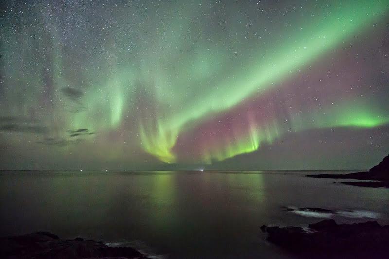 Arctic light: Aurora Borealis at Vesterålen, northern Norway. Photographer Benny Høynes