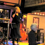 Vocalist Kathy Lyon presented a fun program of jazz standards, with support from Burt Kimberl on piano, Edmo Lanier on bass, Don Tucker on drums, and guest Greg Lyon on guitar.