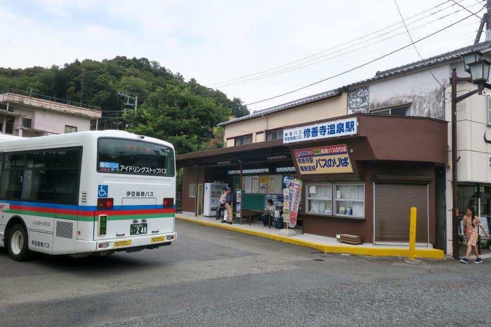 修善寺温泉駅 バス停