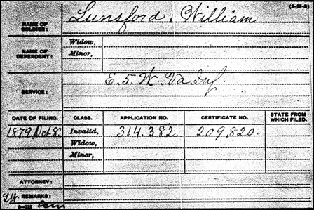 LUNSFORD_William who died in 1915_pension index card_1879