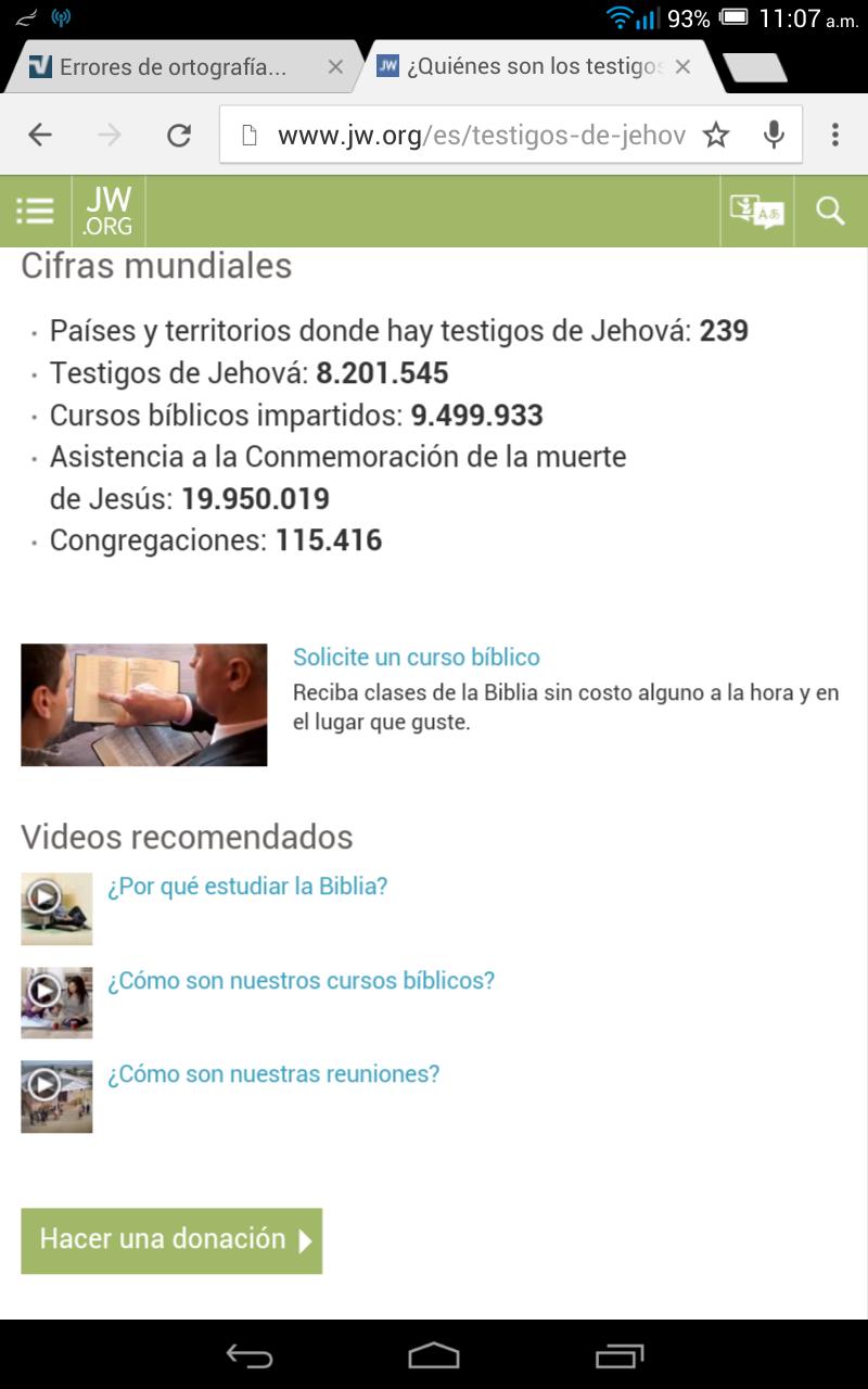 Jw.org solicite un curso biblico