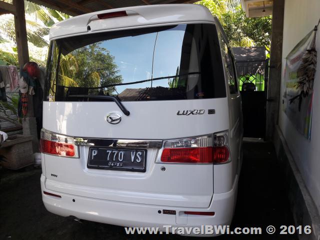 Luxio Tipe X 2016 Back - Travel BWi Banyuwangi - Rental Mobil