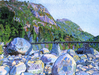 Harold Gilman - The Mountain Bridge, Norway