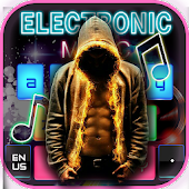 Electronic music DJ keyboard