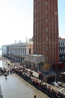 Veneza alagada na Piazza San Marco