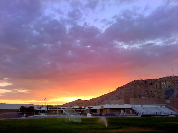 Sunset from Mont Harmon Junior High