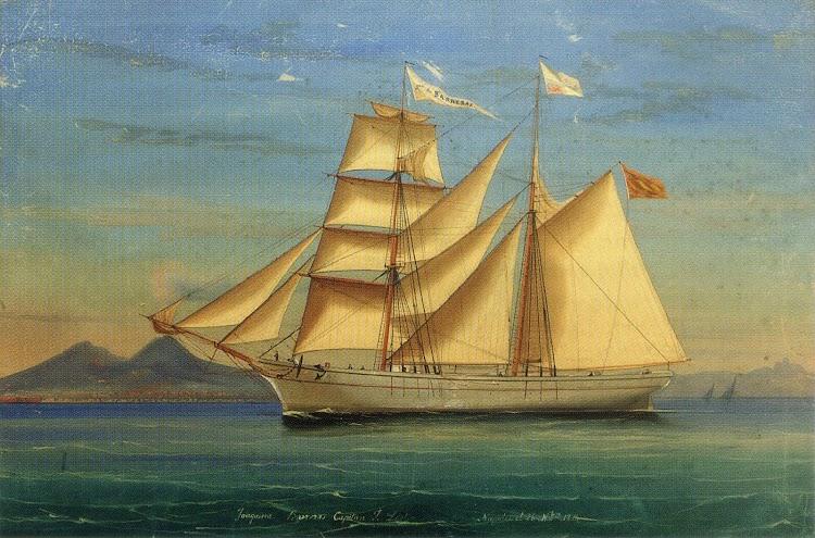 Bergantin Goleta JOAQUINA BARRERAS entrando en Napoles el 26 de octubre de 1874. Familia Lojo Leston.tif