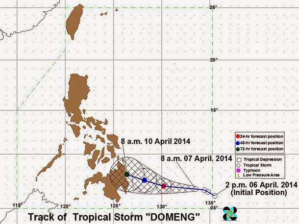 Tropical Storm Domeng track