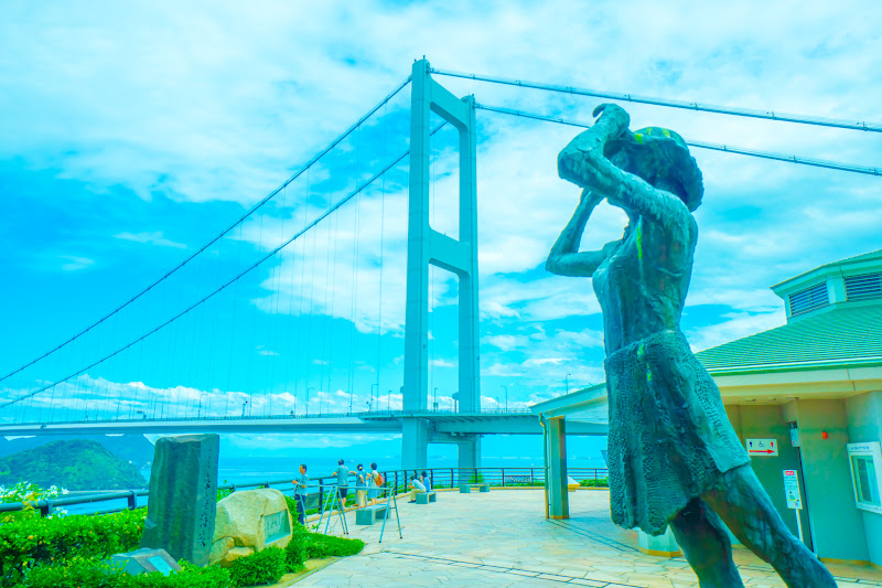 Kurushima Kaikyo Bridge Observation Building statue 2