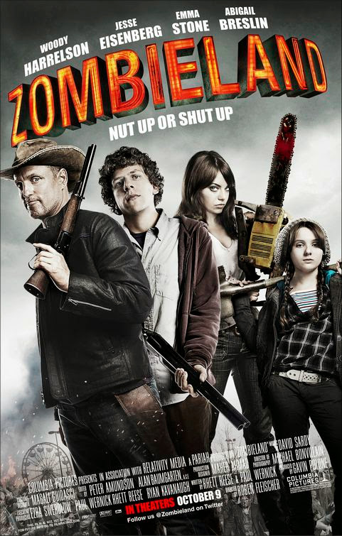 Poster Of Zombieland (2009) Full Movie Hindi Dubbed Free Download Watch Online At Alldownloads4u.Com