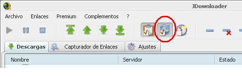 """JDownloader, Configurar la Reconexión """"Sin Extras&quot"""