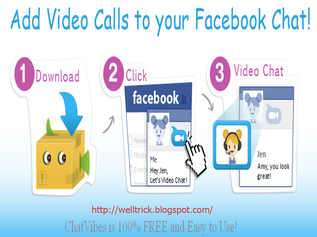 Facebook, Video, Chat, Skype,