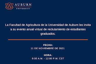 Reclutamiento virtual de la Facultad de agricultura de la Universidad de Auburn